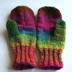 Colorful Knit Glove Pattern