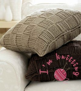 Basketweave pillow covers