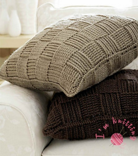 Knit Pillow Cover I'm Knitting Knitting Patterns Awesome How To Knit Pillow Covers