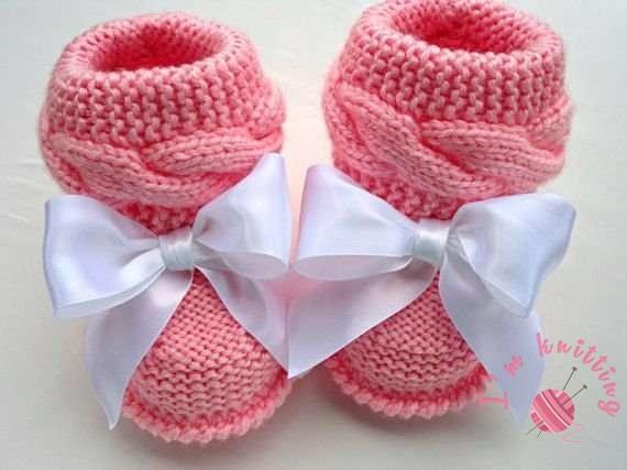 Pink booties pattern