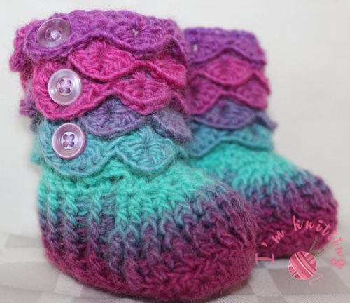 Colorful booties pattern