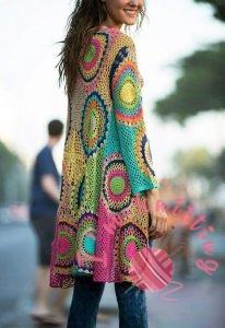 Colorful crochet jackets