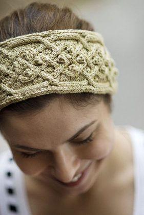Tanis Gray Finch Cabled Headband