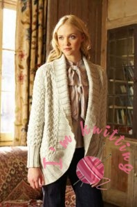 White Knitted Jacket for women