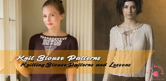 Free knitted blouse pattern
