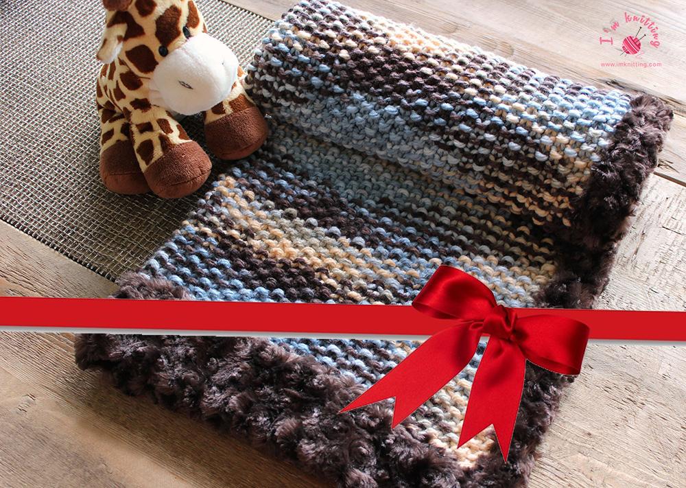 Gift knitting baby blanket