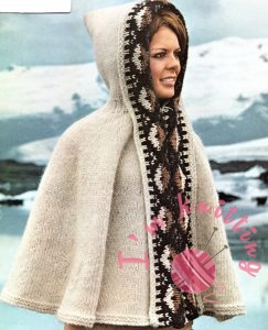 Knit Hooded Poncho