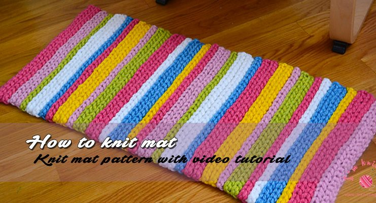 How to knit mat