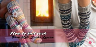 How to knit sock