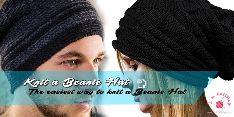 The Easiest Way To Knit A Beanie Hat Im Knitting Knitting Patterns