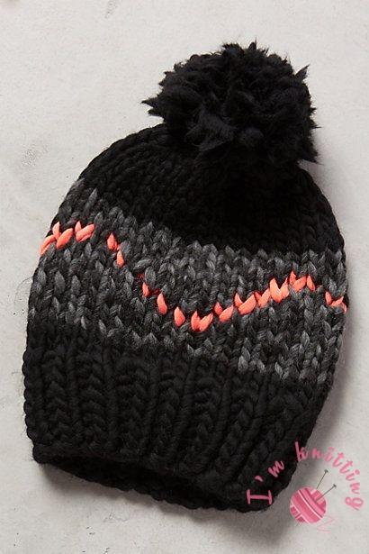 Great Knit beanie hat pattern