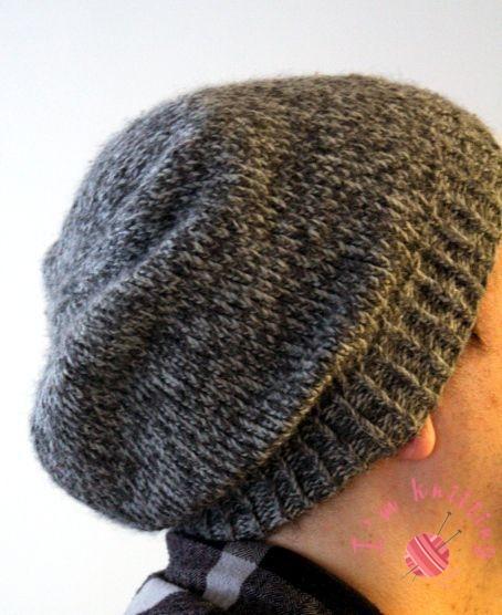 Knit beanie for men