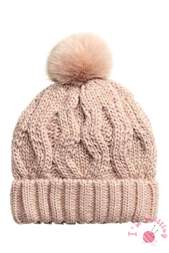 Pink Knit Beanie Pattern