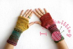 Fingerless gloves set in harvest colors