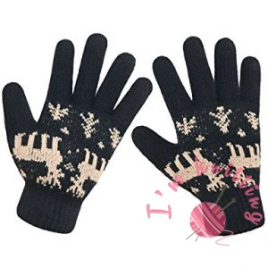 Lethmik Christmas Thick Knit Gloves