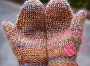 Colorful Knit Glove-Pattern