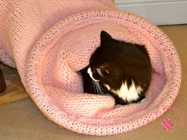 Knitted Cat Tunnel