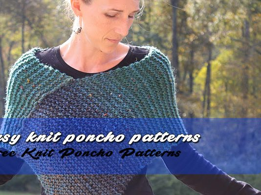 Easy Knit Poncho
