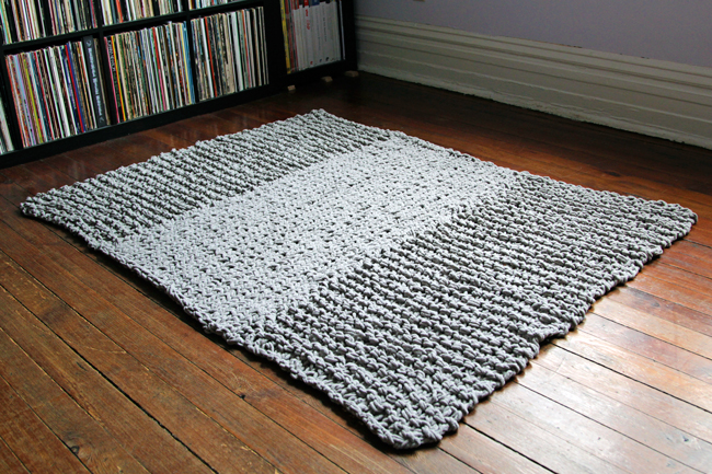 Knitted rug  desing for your home