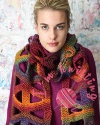 Knitting Scarf with creative design