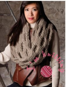 Knitted Scrf Pattern for woman