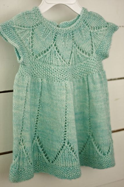 Light Green knitted baby dress