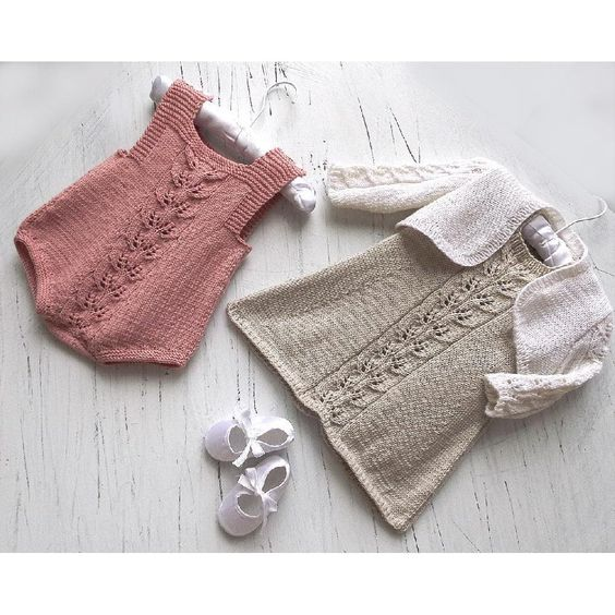 Cute knitted baby dress