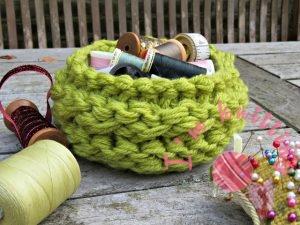 Free Knitted Basket Pattern