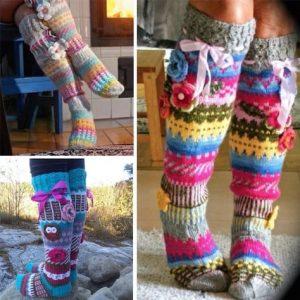 Knitted knee high socks-