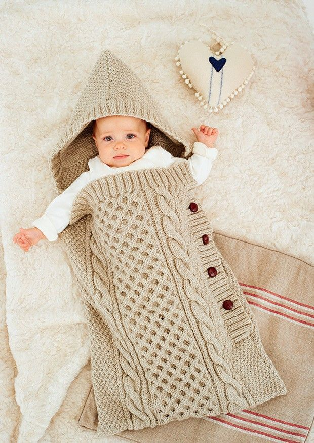 566af52b3 Knitted Baby Sleeping Bag
