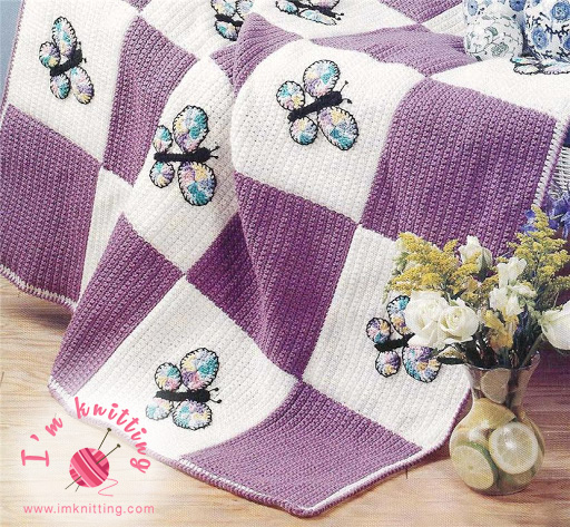 Baby blanket with butterfly pattern is great