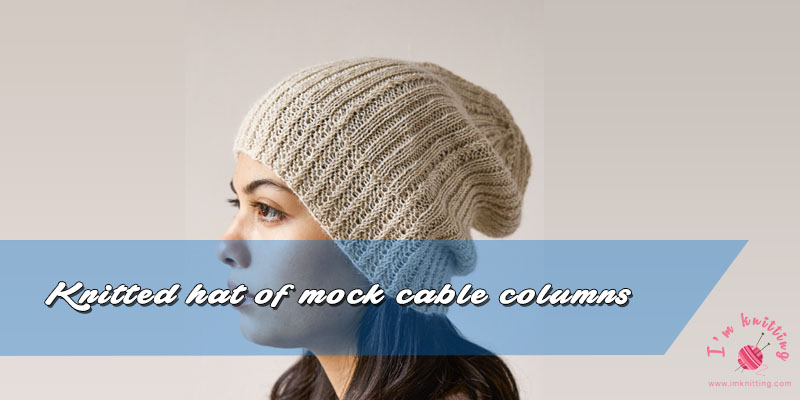 4621d6fda60a Knitted hat with mock cable columns