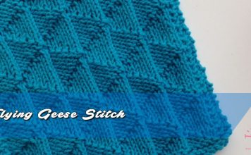 How to knit Flying Geese Stitch
