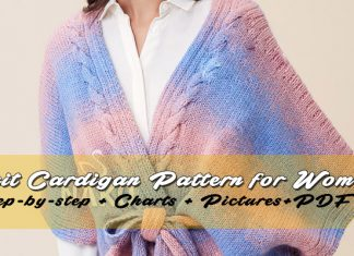 Knitted Cardigan Pattern for women: Spring