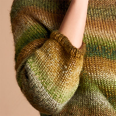 Arm Design for Easy Knitted Sweater