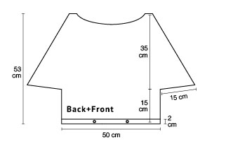 Sweater Back and Front Chart