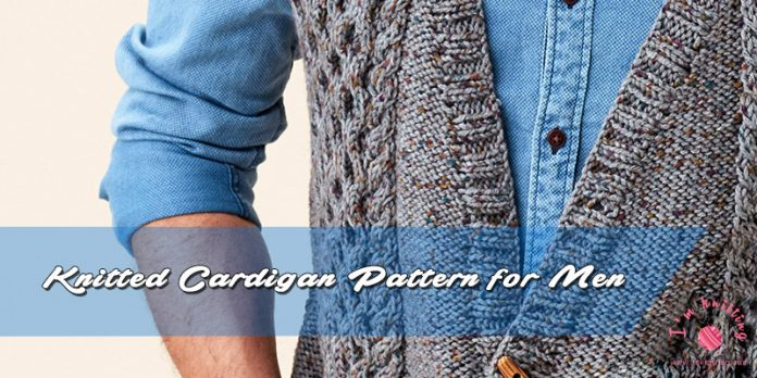 Knitted Cardigan Pattern for men