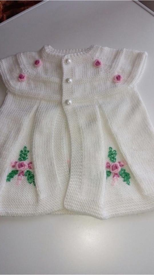 Knitted vest for baby girl