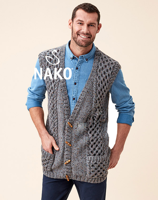 Vintage Cardigan Pattern by Nako