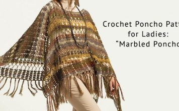 Crochet Poncho Pattern for Women