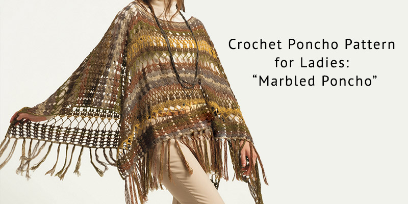 Crochet Poncho Pattern For Ladies Marbled Poncho Im Knitting