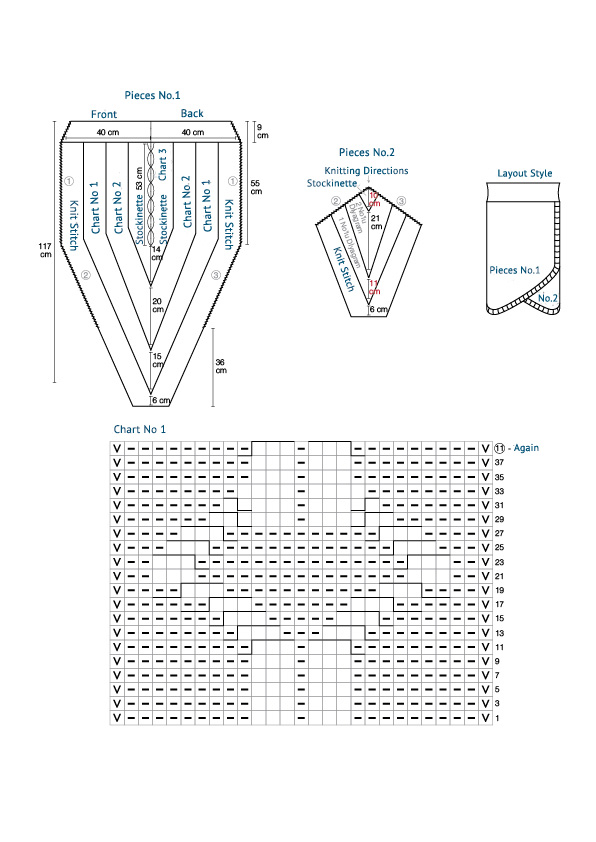 Knit Skirt Charts