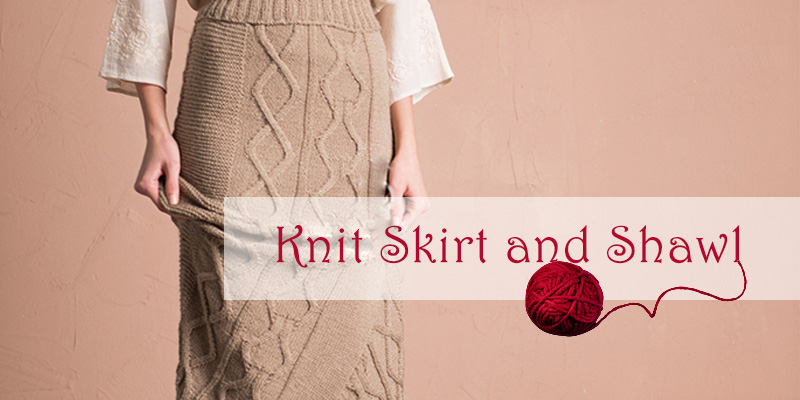 Cable Knit Skirt And Shawl Pattern Im Knitting Knitting Patterns