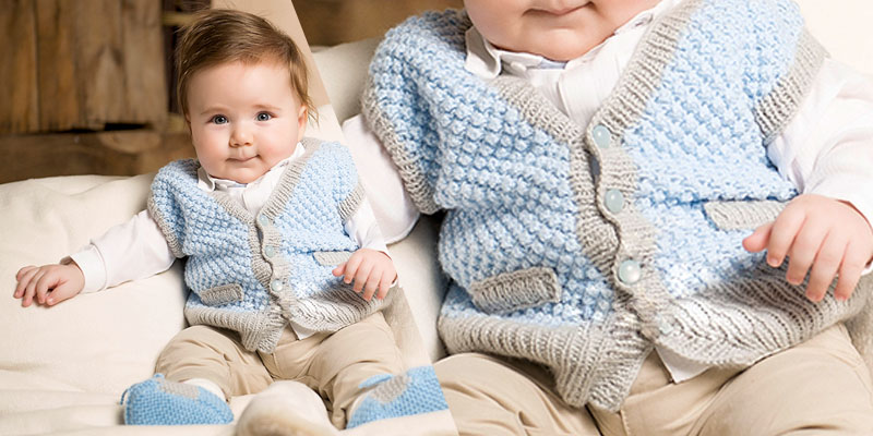 Free knitting vest and booties pattern for babies | Knitting