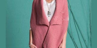 Pure wool pocket shawl