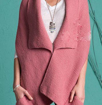 Pure wool pocket shawl