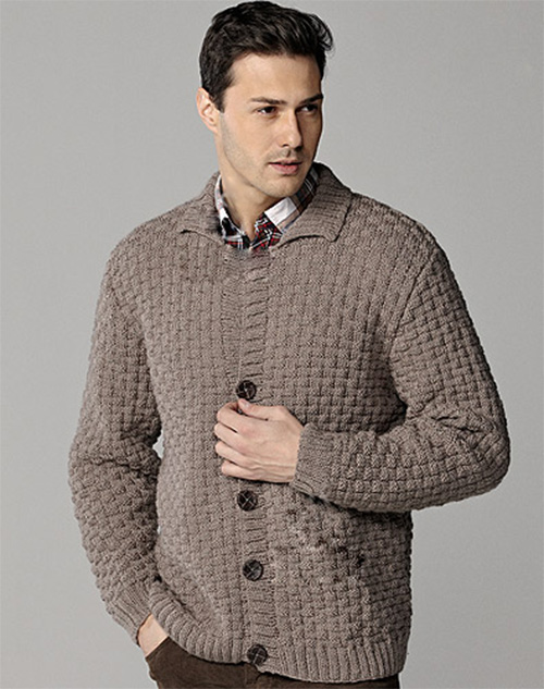 Collared Cardigan for men
