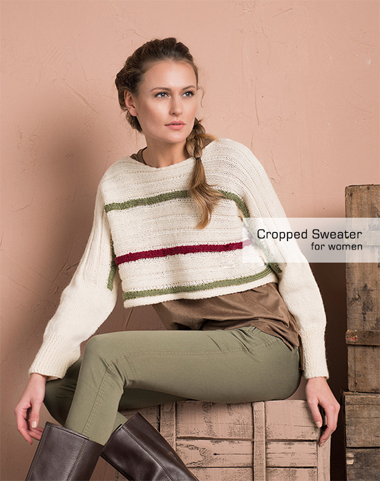 Easy Cropped Sweater Pattern for Women