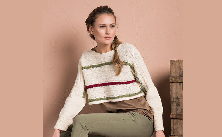 Easy Cropped Sweater Knitting Pattern | I'm Knitting - Knitting Patterns
