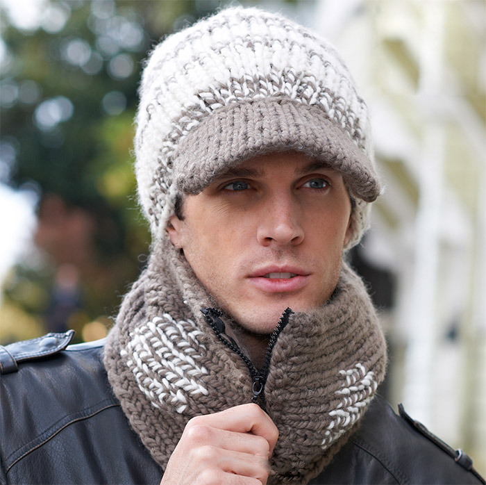 Men S Winter Hat And Scarf Knitting Pattern Knitting Patterns For
